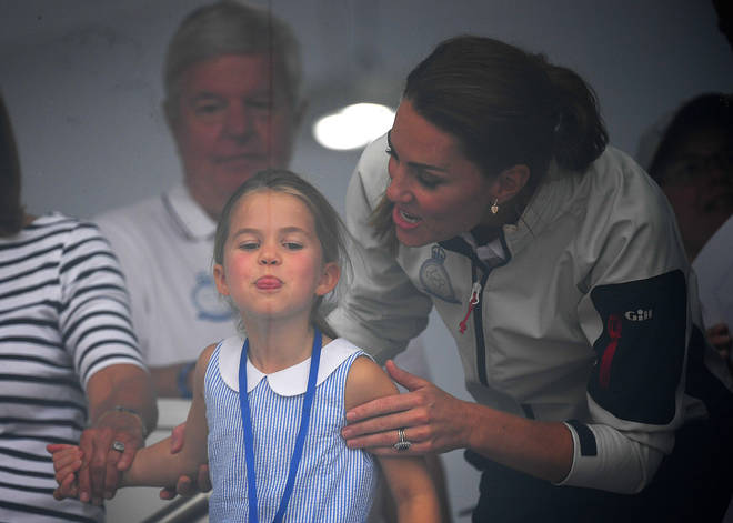 Fans have praised Kate for her reaction, comparing her playful way with her children similar to Princess Diana