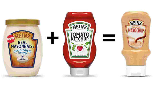 It's a combination between mayo and ketchup