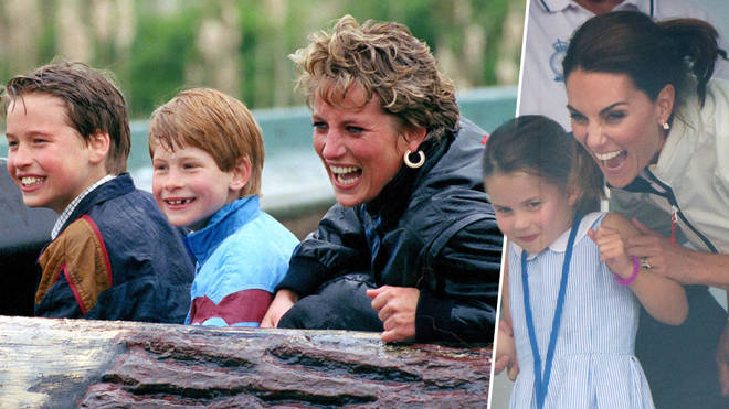 Royal fans have compared Kate Middleton's reaction to that of Princess Diana's