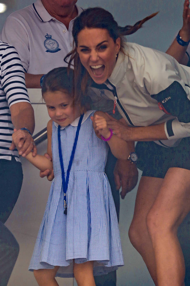 Kate Middleton laughed with her daughter at her cheeky gesture