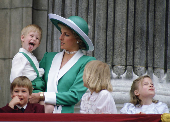 Prince Harry appears to have inspired Charlotte's cheeky moment