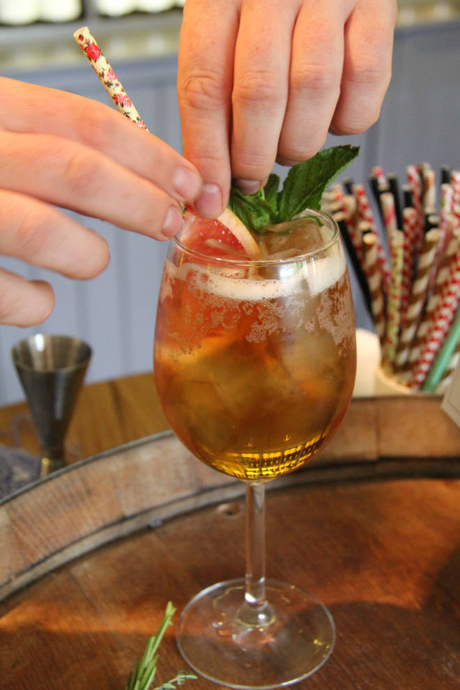 This twist on a spritz uses English wine