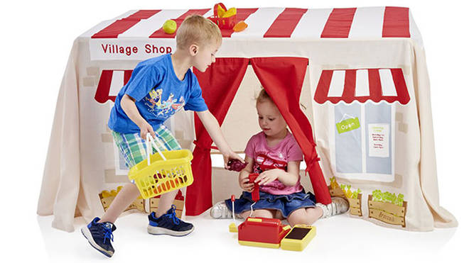 wilko sell a ready made shop that doubles up as a fantastic den for kids interested in a day of retail therapy