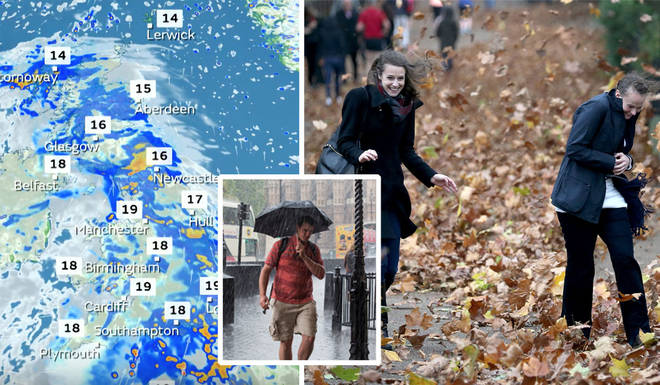 The UK is set to experience autumnal weather this week