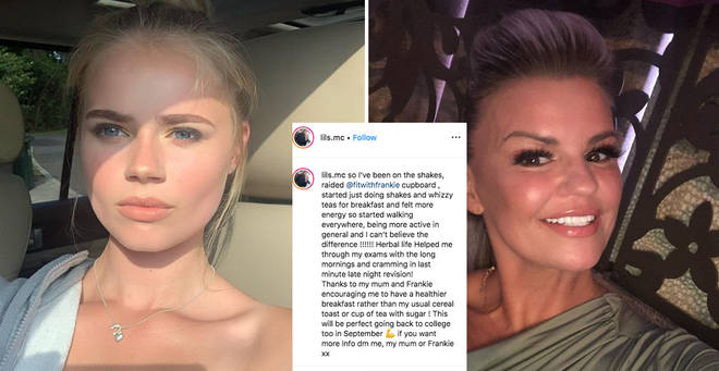 Kerry Katona's daughter, 16, shows off weight loss from controversial meal replacement shakes