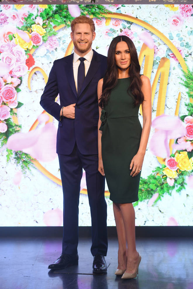 The royal couple are now displayed in different sections of Madame Tussauds