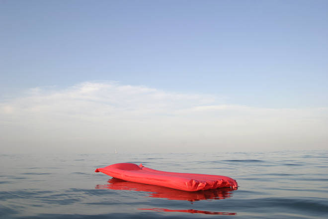 The girl was rescued after drifting out to sea on a lilo (stock image)