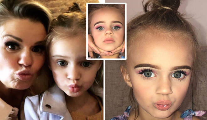 Kerry Katona hits back at trolls who criticised photos of her daughter, 5, wearing a full face of makeup