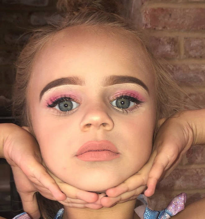 Kerry Katona's daughter DJ, 5, showed off the results of the makeover by her older sister Molly