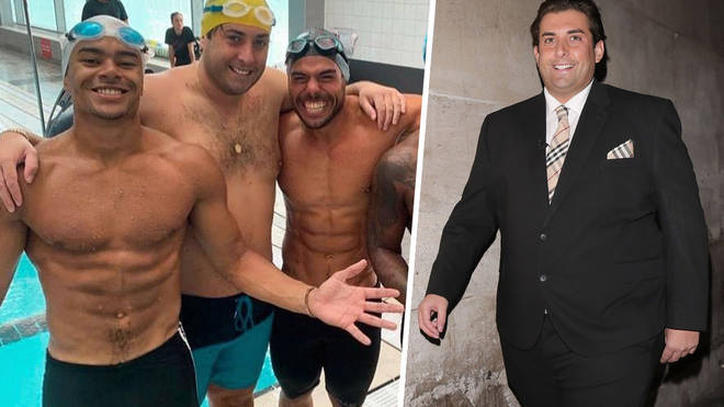 Arg has been training hard for the challenge, and shedding the pounds in the meantime