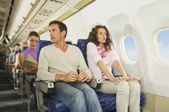 It's best to sit at the front of the plane if you're scared of flying, it's been claimed