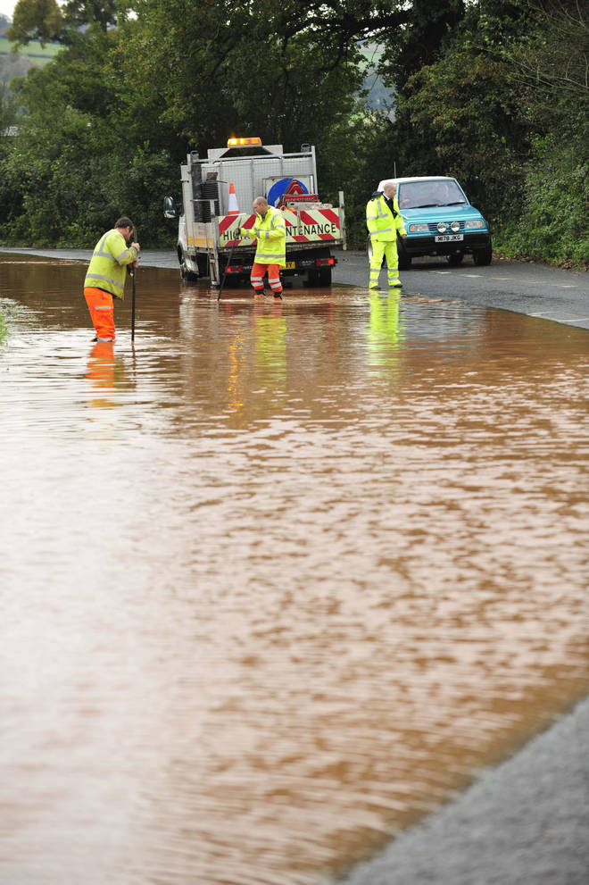 The horrible weather will potentially end in flooding