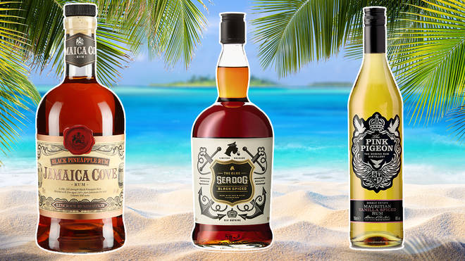 There are different types of rum available, spiced, dark and white