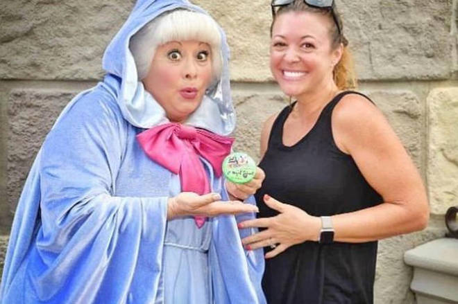 Lisa had a great time and made friends with the Fairy Godmother