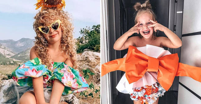 Stefani Chaglar likes to dress up in her mum's creations