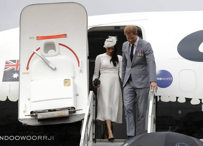 Meghan and Harry have flown commercial in the past