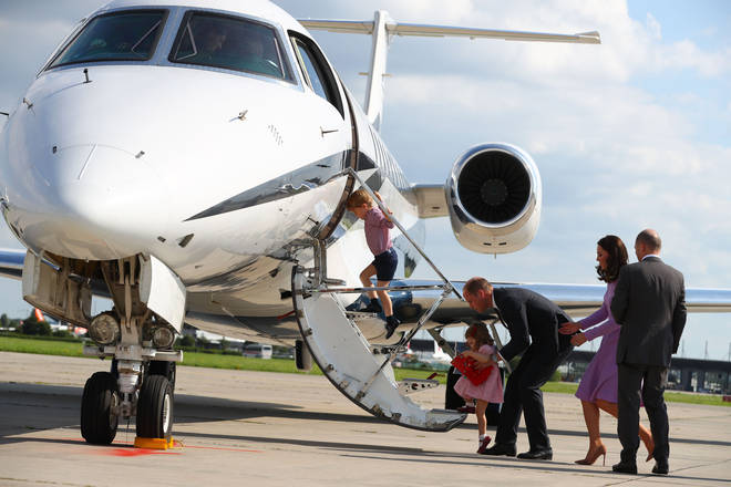 Kate Middleton and the Prince William have travelled with private jets and commercially in the past