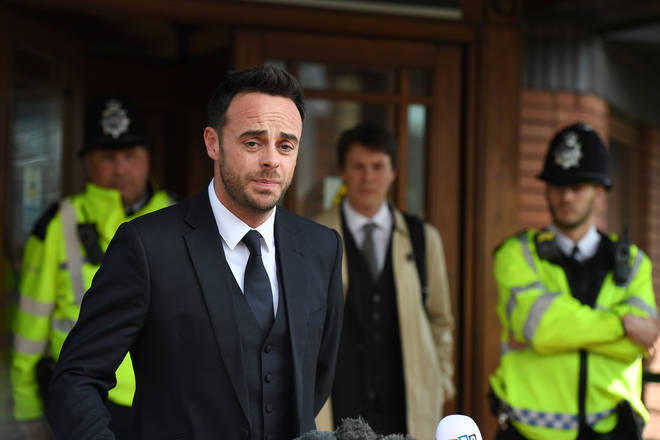 Ant McPartlin outside court following his drink drive trial