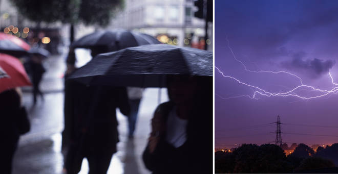 UK weather: Heavy rain and thunderstorms to strike Britain ahead of Bank Holiday sunshine