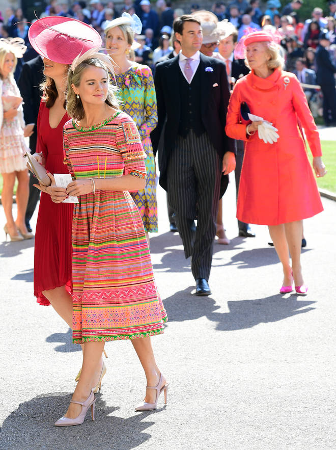 Cressida attended Meghan and Harry's wedding last year