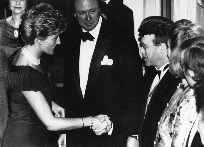 Elton John and Princess Diana first met at Prince Andrew's birthday party