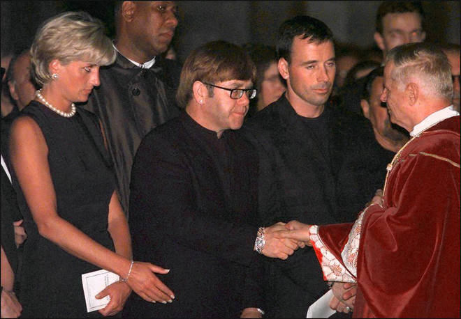 The couple attended Gianni Versace's funeral together