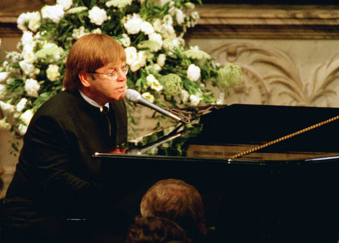 Elton John sang Candle In The Wind at Princess Diana's funeral