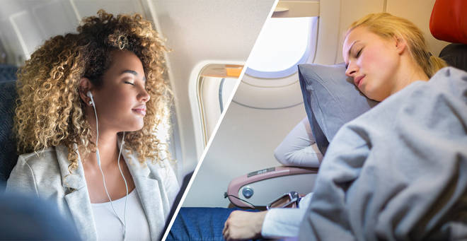 Here's how to get to sleep on a long haul flight
