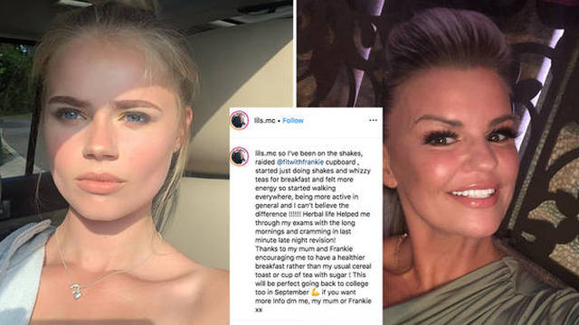 Kerry Katona has defended her daughter against the backlash