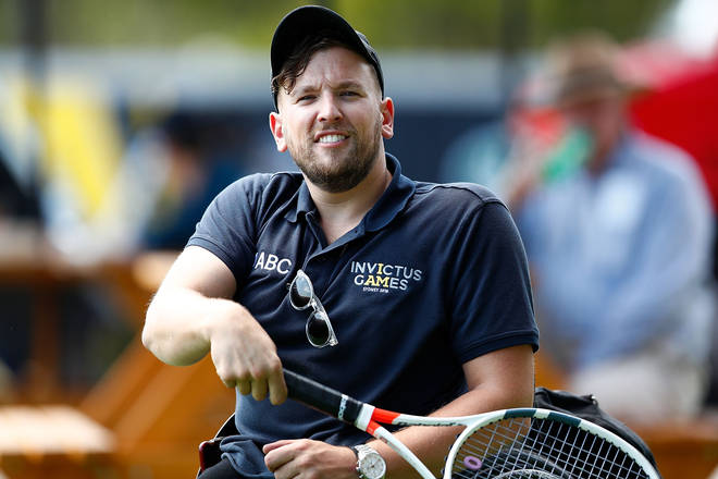 Dylan and Harry first met in the Invictus Games in Sydney during an interview, where the pair were both given Invictus Games branded speedos