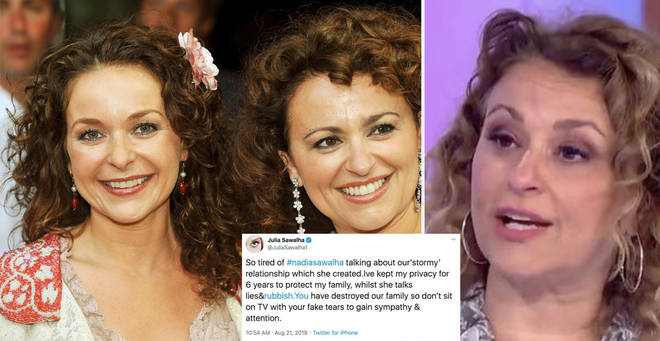 The Absolutely Fabulous star has hit out at her sister on Twitter