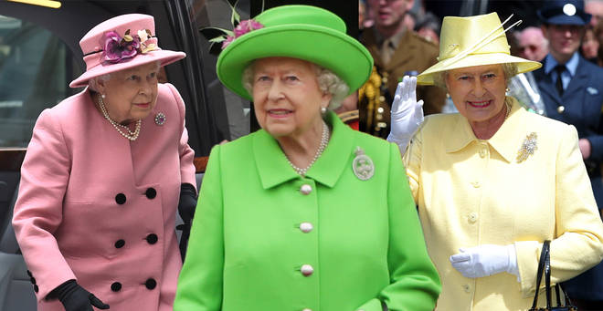 The Queen never wears dull shades