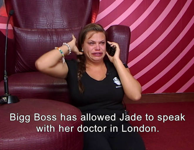 Jade was called into the Diary Room and told she has cancer