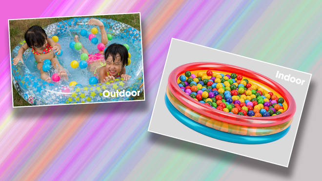 A paddling pool can be great for indoor or outdoor fun