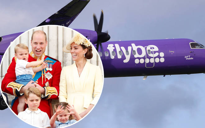 The royals were spotted getting off a budget airline with the kids