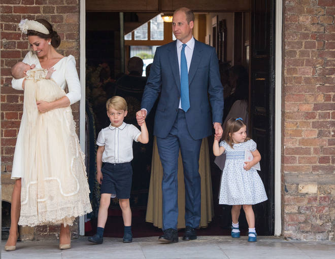 Kate, Wills and the kids took a very modest options and passengers say they barely noticed them
