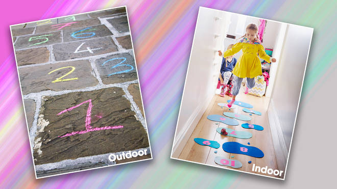 Hopscotch can be played come rain or shine