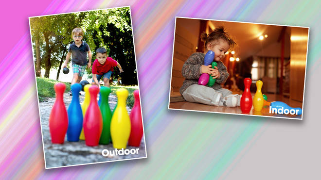 Skittles can be played indoors or outside, and is great for kids of all ages