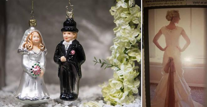 The wedding dress has been mocked online