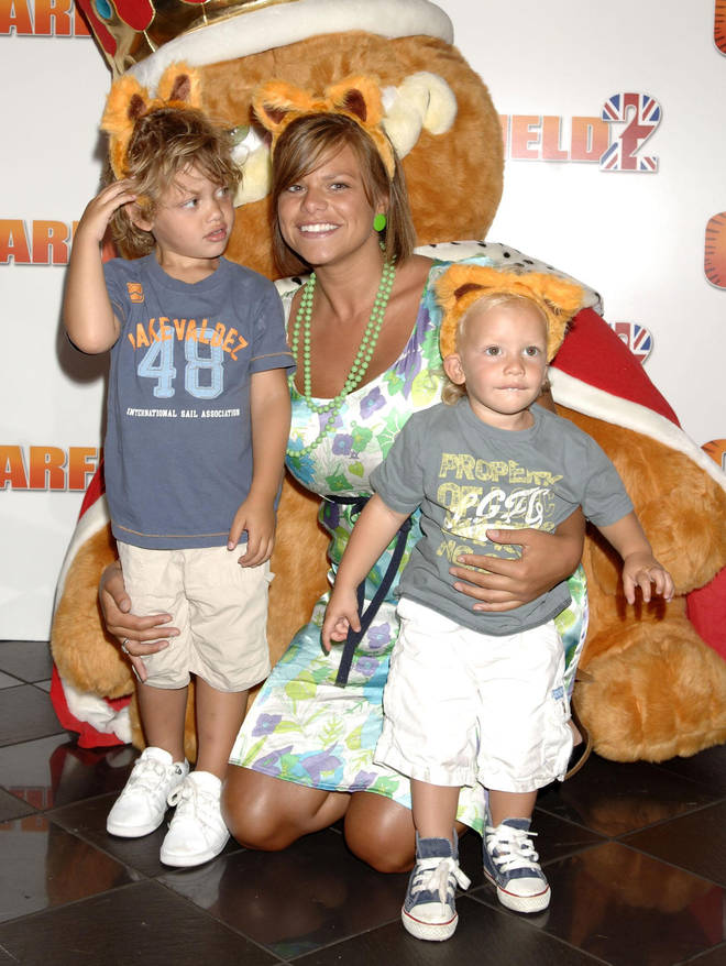 Jade in 2006 with Freddie and Bobby at a Garfield film premiere