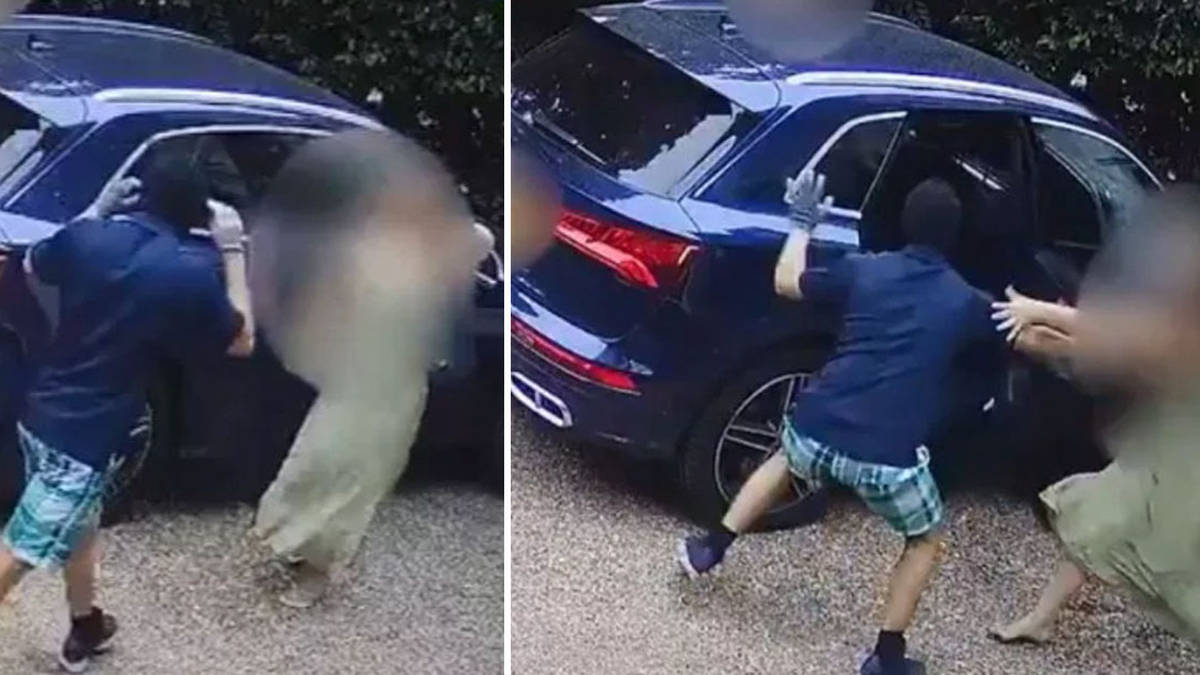 Mum hailed 'hero' as she fights off crowbar criminals who tried to steal her car with son, 3, inside