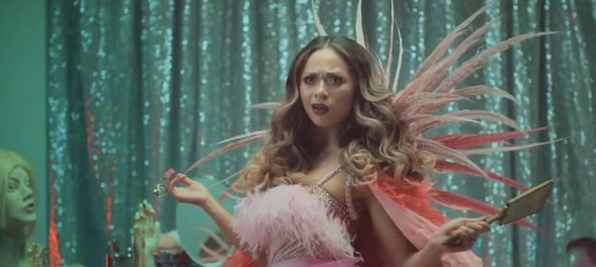 Katya Jones looks stunning but very unimpressed in the new trailer