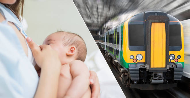 A mum was forced to breastfeed on the floor of a train