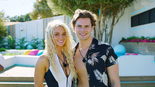 Lucie Donlan and Joe Garratt coupled-up on day one of this year's dating show.