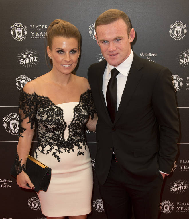 Footballer Wayne Rooney was pictured chatting to a mystery brunette at the end of an alcohol-fuelled night out.