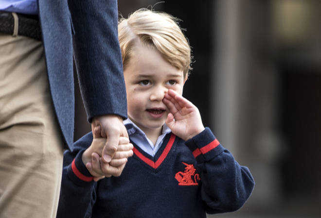 Prince George on his first day of school at Thomas's in 2017