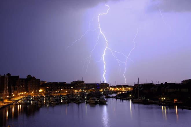 Thunderstorms could start as early as noon today