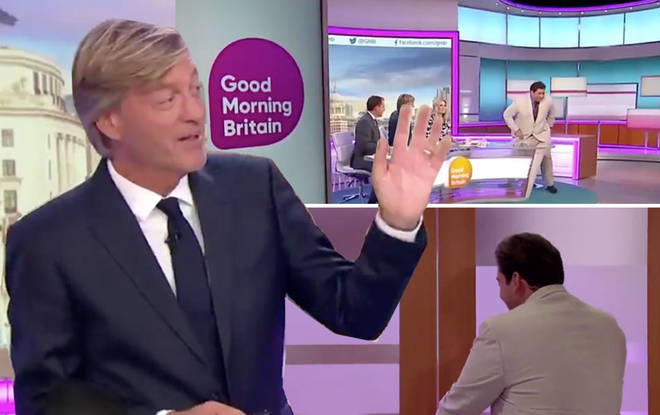 James Argent walked off the set this morning