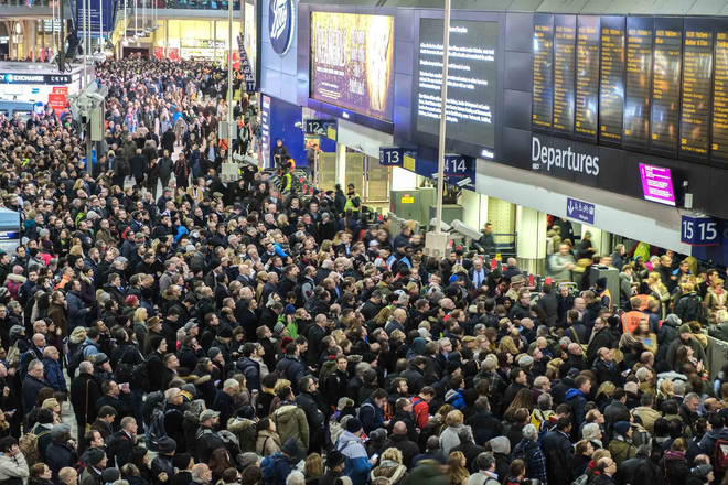 Train stations will be chaos this weekend
