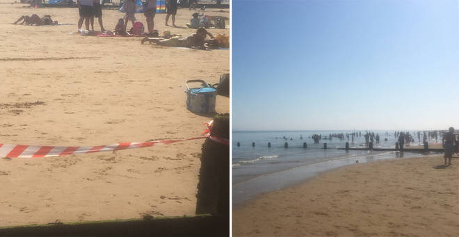 Essex beaches were evacuated